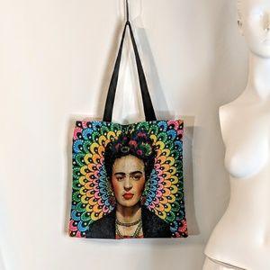 Handbags - Frida Kahlo Canvas Reusable Shopping Bag NWOT